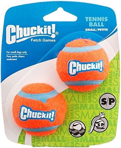 Chuckit! Pelota de Tenis para Perro Juguete de 2 Pulgadas: Amazon ...