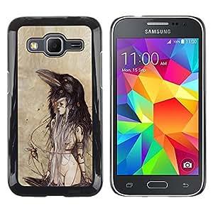 Exotic-Star ( Woman Watercolor Parchment ) Fundas Cover Cubre Hard Case Cover para Samsung Galaxy Core Prime / SM-G360