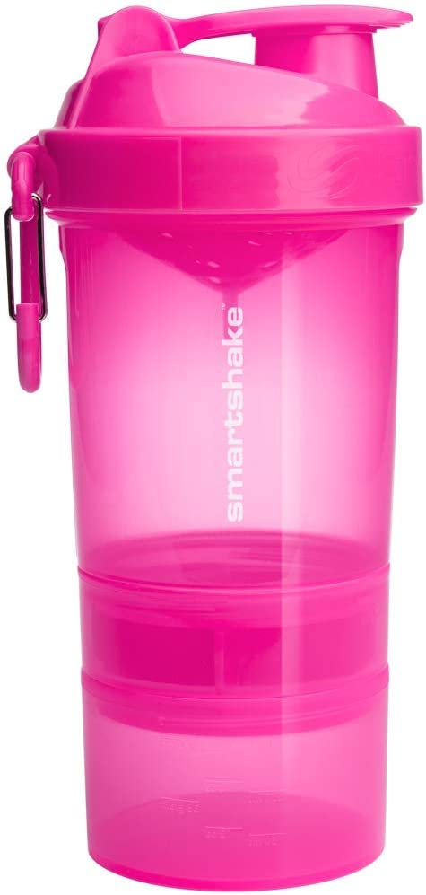 Smartshake Original 2GO, 20 oz Shaker Cup, Pink (Packaging May Vary)