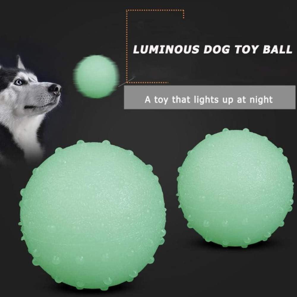 Pelota de goma luminosa, juguete resistente a la mordida y al ...