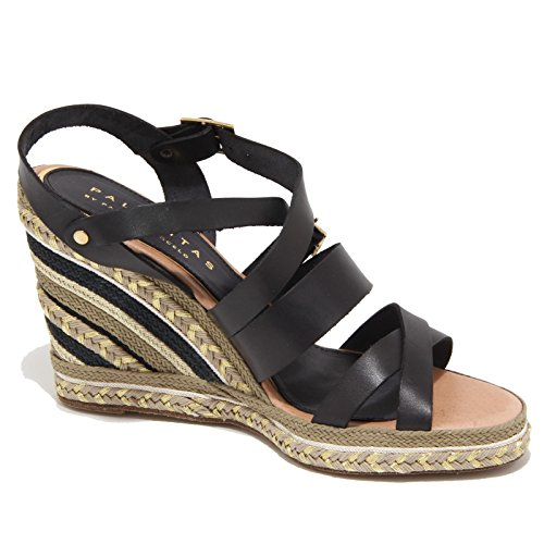 Sandals Sandalo Nero Palomitas Woman Donna 2524n Shoes t48aq