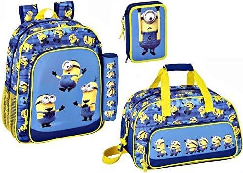 Minions Mochila, Bolsa Deporte y bolsa de plumas, plumero, Azul