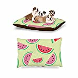 KESS InHouse afe images ''Watermelon Background'' Pink Food Dog Bed, 30'' x 40''