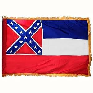 Mississippi Flag 4X6 Foot Nylon PH and FR
