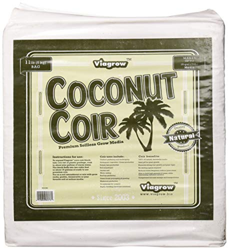 Viagrow VCCB5 11 lb Coconut Coir Block of Soilless Media