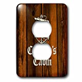 3dRose Russ Billington Nautical Designs - Nautical Anchor Design- Captains Cabin- not real wood - Light Switch Covers - 2 plug outlet cover (lsp_261720_6)
