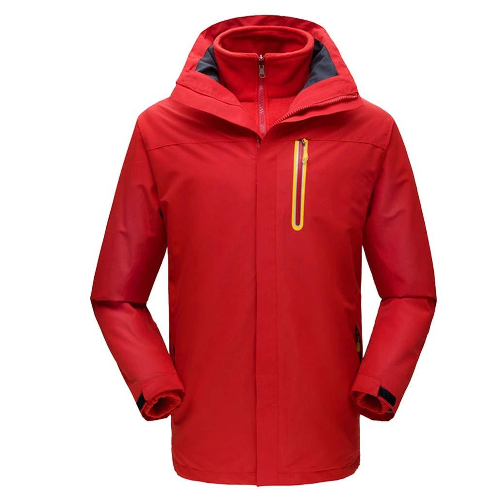 iLXHD Men Winter Hooded Softshell Windproof Waterproof Soft Coat Shell Jacket C257 Red by iLXHD