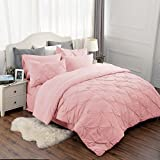 Bedsure 8 Piece Comforter Set Pink Full Queen Size (88
