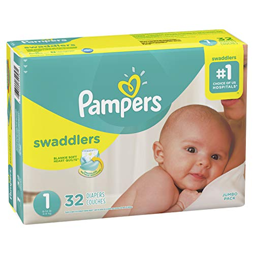 Pampers Pampers Swaddlers Newborn Diapers Size 1, 32 ct