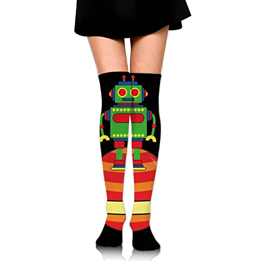 Amazon.com: Space Robot Planet Womens Casual Socks ...