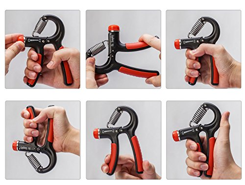 Fit Simplify Hand Grip Strength Exerciser (2 Pack) Adjustable Resistance 22 88 Lbs Non slip Hand Gripper for Athletes and Musicians