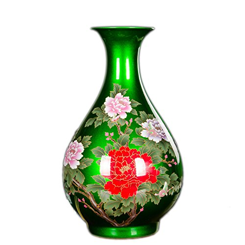 BIG RED PURPLE GOLD FLOWER VASE China Jingdezhen ceramic por