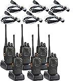Walkie Talkies(6 Pack) 2 Way Radio with 6 Earpiece UHF 400-470Mhz Two Way Radios