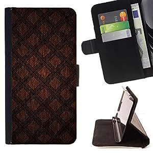 For HTC DESIRE 816,S-type Resumen de Brown Diamond Quilt- Dibujo PU billetera de cuero Funda Case Caso de la piel de la bolsa protectora
