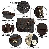 Tocode Large Messenger Bag for Men, Vintage Waxed