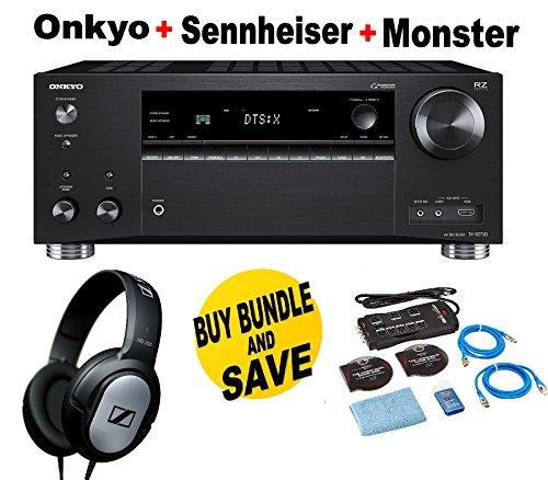 Onkyo-Rz-Series-Audio-Video-Component-Receiver-Black-TX-RZ720-Monster-Home-Theater-Accessory-Bundle-SENNHEISER-HD206-Bundle