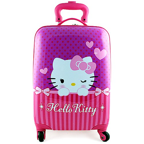 Hello Kitty Hardshell Spinner Rolling Luggage Case [Purple]