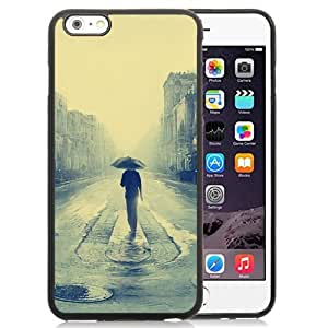 Unique and Attractive TPU Cell Phone Case Design with Man Walking In Rain Illustration iPhone 6 plus 4.7 inch Wallpaper