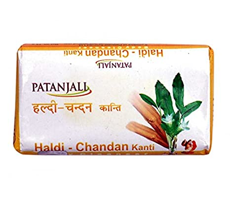 150 Gm bathing Soap Patanjali Haldi Chandan Kanti Body Cleanser Pack Of 3