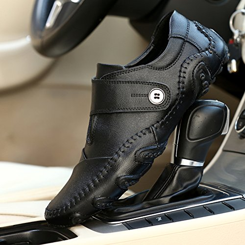 Leather Casual Driving Ceyue Leather Shoes Casual Mens Mens Loafers Loafers Driving Ceyue Shoes Black xRTqRrtw