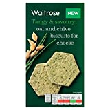 Oat & Chive Biscuits For Cheese Waitrose 150g (Pack of 4)