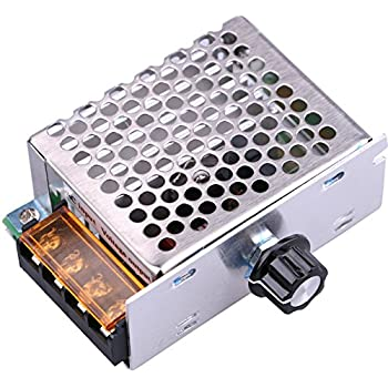 Yeeco AC 110V 4000W SCR Voltage Regulator Speed Control Driver Dimming Dimmer Thermostat Governing Temperature Governor Fan Motor Controller