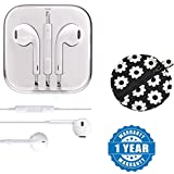 Drumstone Earpod With Mic and Sound Control Headset With Designer Earphone pouch,Coin pouch,Money pouch Compatible with Xiaomi, Lenovo, Apple, Samsung, Sony, Oppo, Gionee, Vivo Smartphones (One Year Warranty)