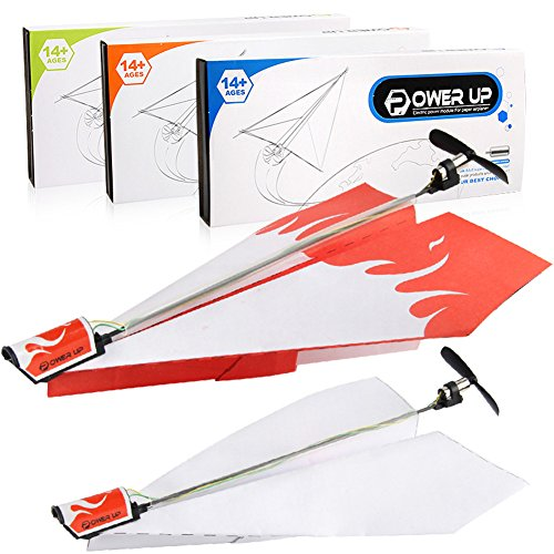 Qiyun Model Toys Kid Electric Paper Airplane Model with Power Module Aircraft Folding DIY Toys Christmas Gifts