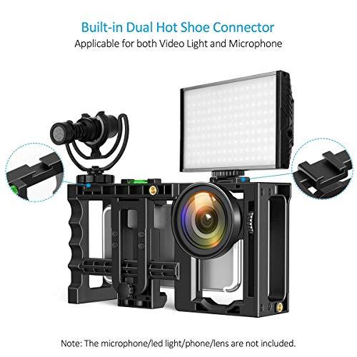 Zecti Estabilizador de Teléfono Soporte de Video para Teléfono Estabilizador Empuñadura Soporte de Trípode para...