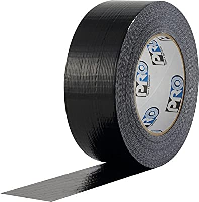 "ProTapes Pro Duct 100 PE-Coated Cloth Economy Duct Tape, 60 yds Length x 2"" Width, Black (Pack of 1)"
