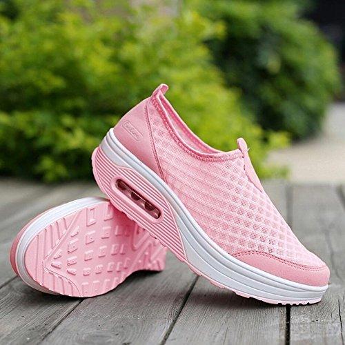 E Fitness Mocassini Shaking Platform Xue Donna Athletic Slip Shoes Loafers Guida Scarpe Mesh Sneakers Primavera Flat guida Autunno Shake B Da wqq0AP6Y