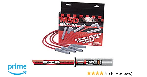 Socket//HEI Multi-Angle Plug 4-cyl Super Conductor MSD Ignition Wire Set