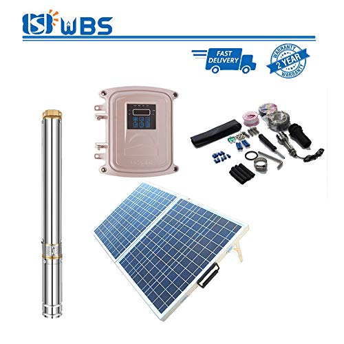 WBS Pump Deep Well Solar Water Pump with Plastic Impeller Submersible 1hp 48V 15.4GPM 311' Head 3
