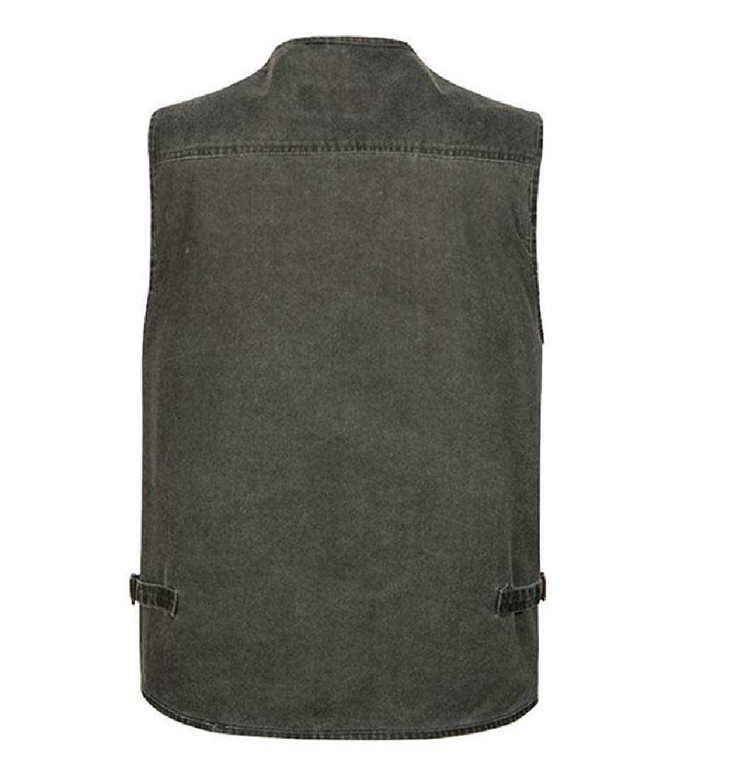 Vska Men Fishing Oversized Vest Military Work Wear Waistcoat