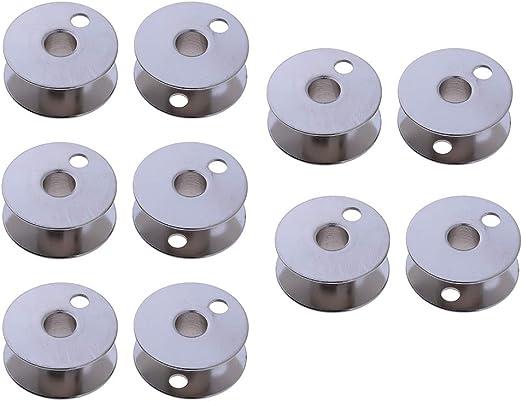 Baoblaze 10 Pedazos Estuche de Metal Caja de Bobina para Máquina de Coser: Amazon.es: Hogar