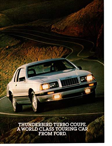 - Magazine Print ad: 1983 Ford Thunderbird Turbo Coupe,