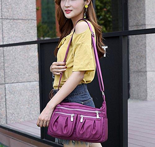 HT Nylon Cross Body Handbags - Bolso cruzados para mujer Azul
