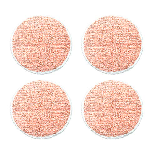 Iusun 4PC Mop Head Rag Replacement Parts Spare Kits For Bissell 2124/2039A Series Steam Vacuum Cleaner Sweeping Robot Accessories Set (Pink)