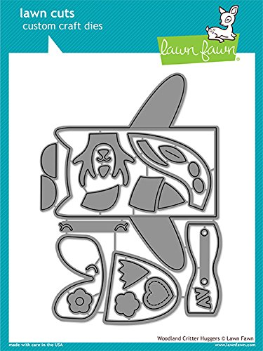 Lawn Fawn 1557 Woodland Critter Huggers Metal Embossing and Cutting dies for DIY Card Making, Crafts and Scrapbooking and Make Your Own Lunchbox Kids Note Cards | Paper and Cardstock Die Cuts Supplies by Lawn Fawn