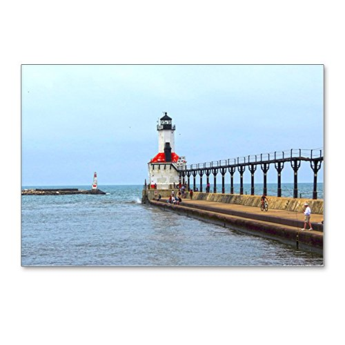 CafePress - Michigan City Lighthouse - Postcards (Package of 8), 6
