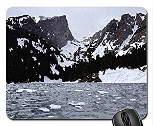 rocky mountains Mouse Pad, Mousepad (Mountains Mouse Pad, Watercolor style)