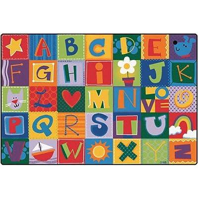 Printed Toddler Alphabet Blocks Kids Rug