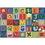Printed Toddler Alphabet Blocks Kids Rug Rug Size: 6' x 9'