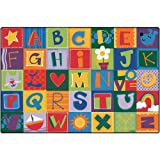Carpets for Kids 3801 Printed Toddler Alphabet Blocks Kids Rug Rug Size: 4' x 6'