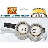 Unique Despicable Me Minion Goggle Party Masks, 8ct