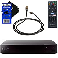 Sony BDP-S3700 Blu-Ray Disc Player with Built-in Wi-Fi + Remote Control + Xtech High-Speed HDMI Cable w/Ethernet + HeroFiber Gentle Cleaning Cloth
