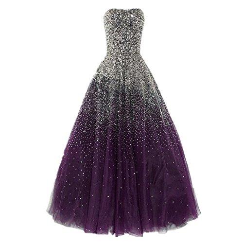 Erstaunlich Perlen formale Lovelybride Traube Abendkleider Abendkleid lange Liebsten dSvnv