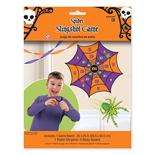 Fun Gel Spider Slingshot Halloween Trick or Treat Party Game Activity, Pack of (Halloween Party Activities For 12 Year Olds)