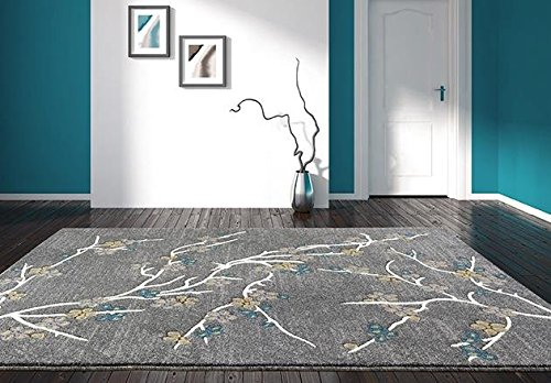 6055 branches gray 7 39 10x10 39 6 area rug carpet large new for 10x10 carpet