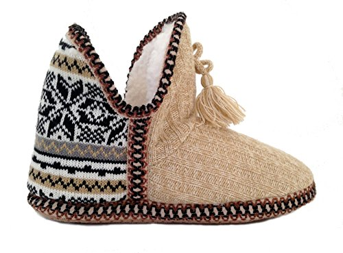 Sweater Isle Knit Fair Khaki Love in Do Everything Booties Slipper Women's W6RwqYXHX